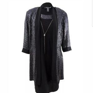 R&M Richards Shift Dress and Embellished Jacket